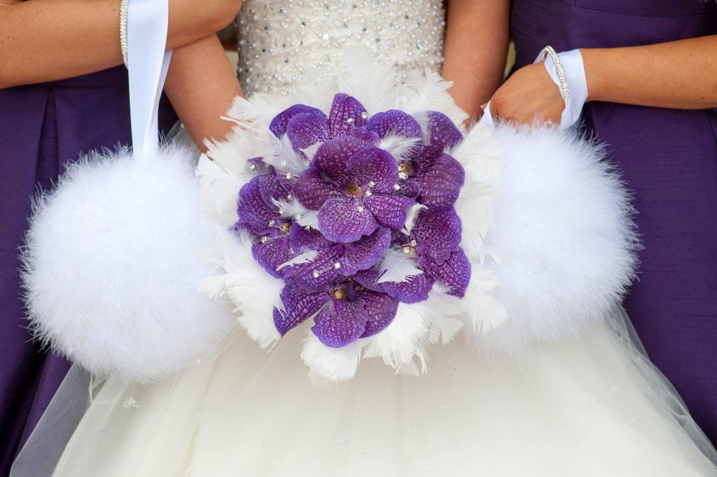Bukiet ślubny z piórami blog robimyfilm