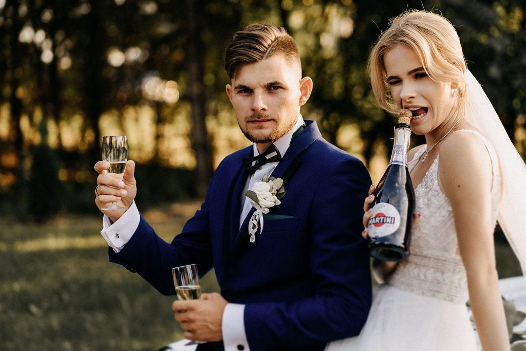 Sesja ślubna w dniu ślubu - Para Młoda